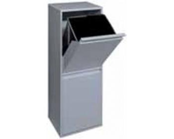 Cubo de reciclaje basic 2 cubo gris arregui