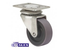 Rueda alex goma 2-1034 060mm giratoria