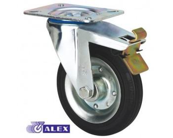 Rueda alex goma 2-1150 125mm giratoria freno