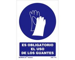 Señal uso obligatorio guantes 21x30