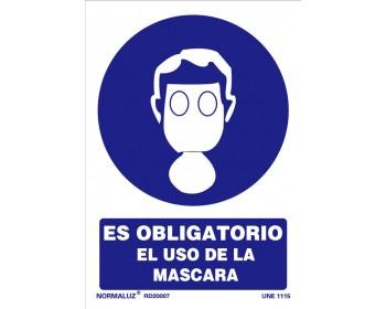 Señal uso obligatorio mascara 21x30