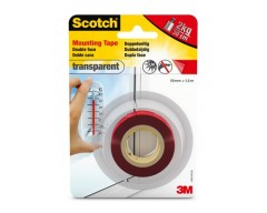 Cinta scotch montaje 3mtransparente 19mmx1.5mt desca