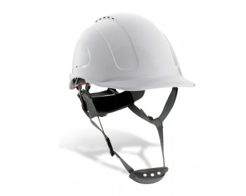 Casco proteccion mountain con barbuquejo blanco