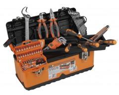 Caja herramientas alyco 79 pzas metalica completa