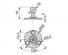 Em enganche lados p/piston s/pivo 1266607