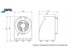 Eliminador de insectos por absorción jofel