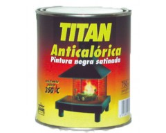 Pintura anticalórica titan negra satinada
