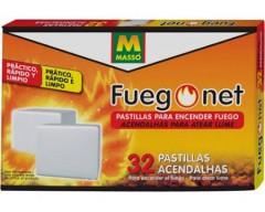 Pastillas encendido fuego net 32uds