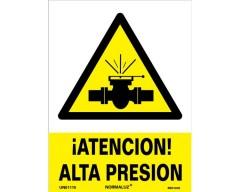 Señal peligro alta presion 21x30
