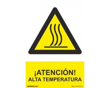 Señal peligro alta temperatura pvc 0.7mm 300x400mm rd31020
