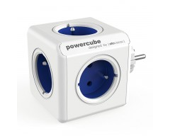 Powercube original 5 tomas corriente azul
