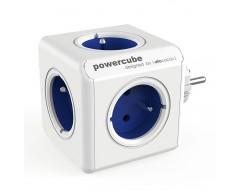 Powercube original 5 tomas corriente azul