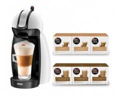 Cafetera dolce gusto delonghi piccolo edg100w + 3 cafe cortado + 3 cafe c/leche