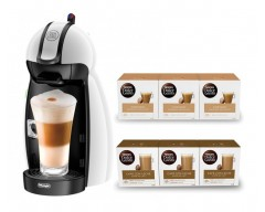 Cafetera dolce gusto delonghi piccolo edg100w + 3 cafe intenso + 3 cafe c/leche