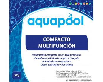 Cloro multifuncion pastilla 200gr aquapool  5kg