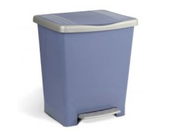 Cubo basura domestico 24 lts azul pedal