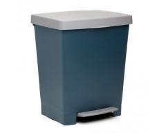 Cubo basura domestico cubik azul 23lt