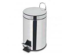 Cubo pedal acero inox. 20 litros habitex
