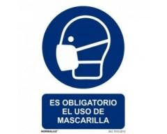 Señal uso obligatorio mascarilla 21x30