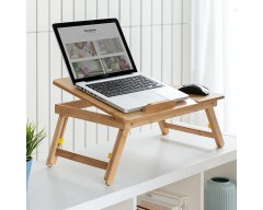 Mesa plegable aux. bambu lapwood